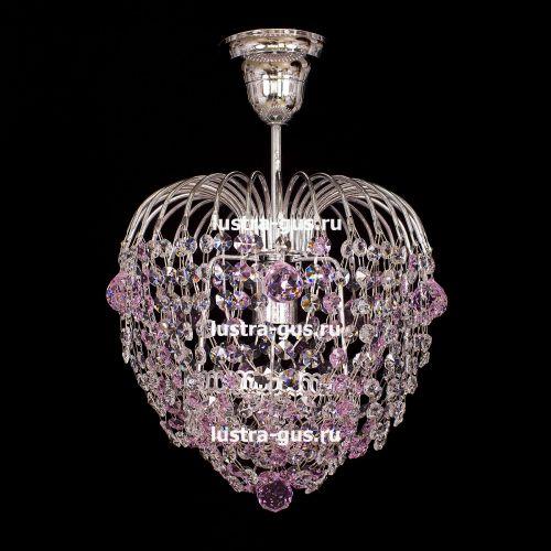 Люстра Малинка шар розовая