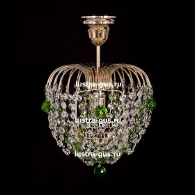 Люстра хрустальная Малинка шар зеленая