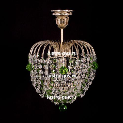 Люстра Малинка шар зеленая