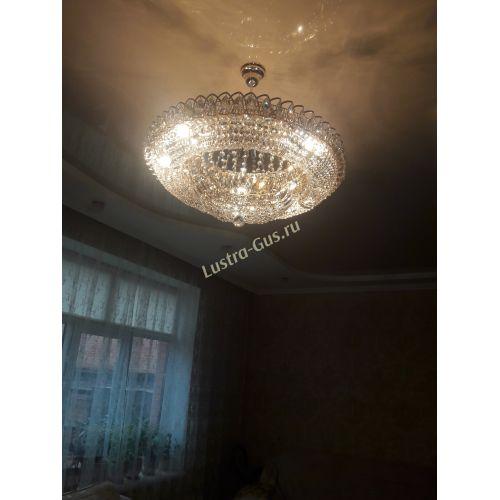 Люстра Кольцо Купол с подвесом 700 мм - Фото покупателя, Люстры Гусь Хрустальный