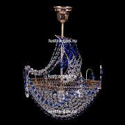 Люстра Корвет 1 ламповый синий