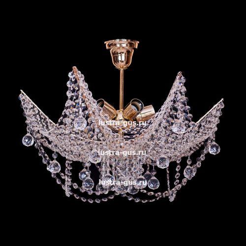 Люстра Марина №2, цвет фурнитуры: золото, Люстры Гусь Хрустальный