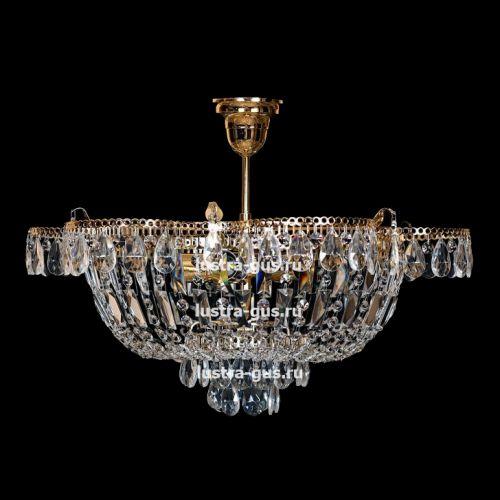 Люстра Ромашка с подвесом, диаметр 560 мм, золото