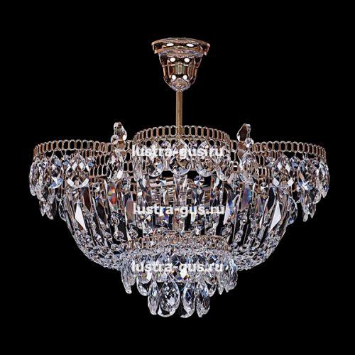 Люстра Ромашка с подвесом, диаметр 450 мм, золото