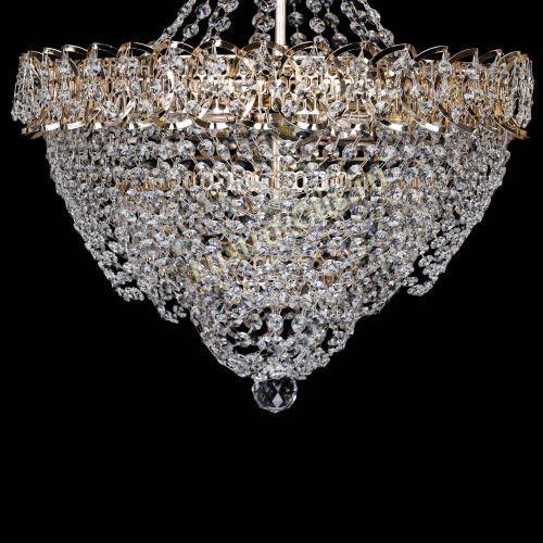 Люстра Ника Лепестки малая, диаметр - 450 мм, цвет - золото Гусь Хрустальный