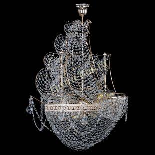Люстра корабль в хрустале Парусник №8 Венеция