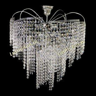 Люстра подвесная Виноград 6 ламп оптикон длинный