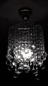 Хрустальная люстра Виноград Шар 30 - 1 лампа (завод Гусь-Хрустальный) в интерьере квартиры