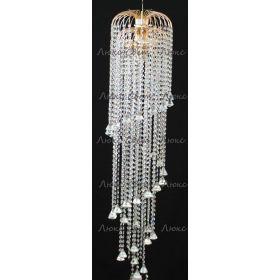 Длинная люстра Винтаж мк 3 лампы конус 40 мм