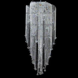Люстра хрустальная Катерина Космос 5 ламп шар 30 мм длинная