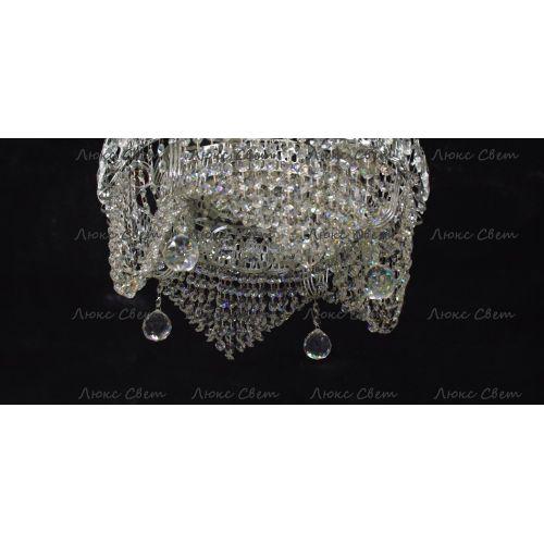 Люстра Кольцо Волна, цвет фурнитуры: серебро