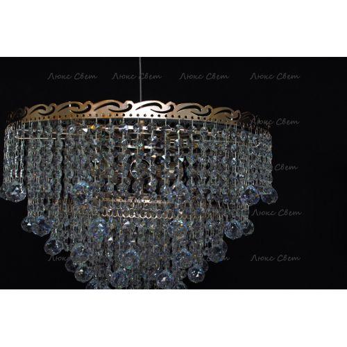 Люстра Капель 5 ламп  № 1 шар 30 мм (собрана под конус)