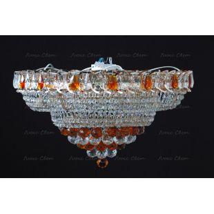 Люстра потолочная Кольцо пирамида шар 40 мм чайный