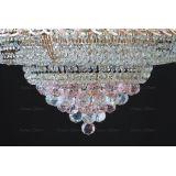 Люстра Кольцо пирамида шар 40 мм розовая