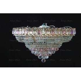 Кольцо пирамида шар 40 мм розовая