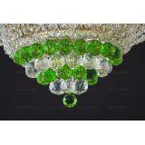 Люстра Кольцо пирамида шар 40 мм зеленая