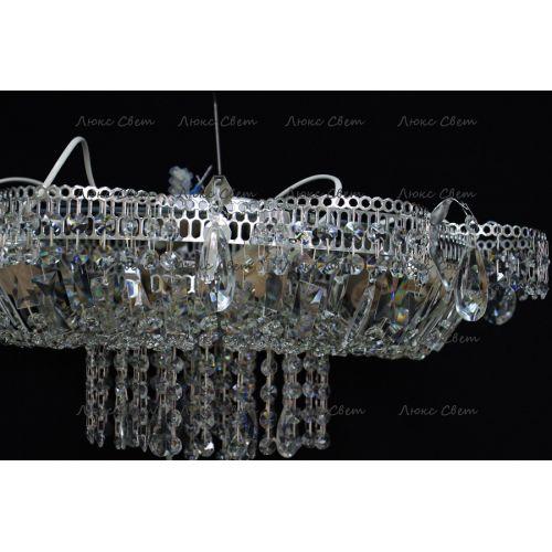Люстра Ромашка 6 ламп, цвет фурнитуры: серебро