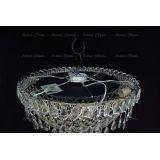 Люстра Водоворот Сетка, диаметр 500 мм, серебро