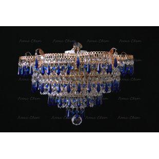 Люстра потолочная Ромашка Хризантема синяя карандаш большой