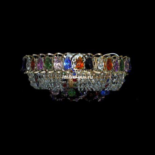 Люстра Кольцо Снежинка разноцветная