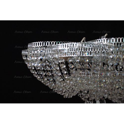 Люстра Лотос Пион, цвет фурнитуры: серебро