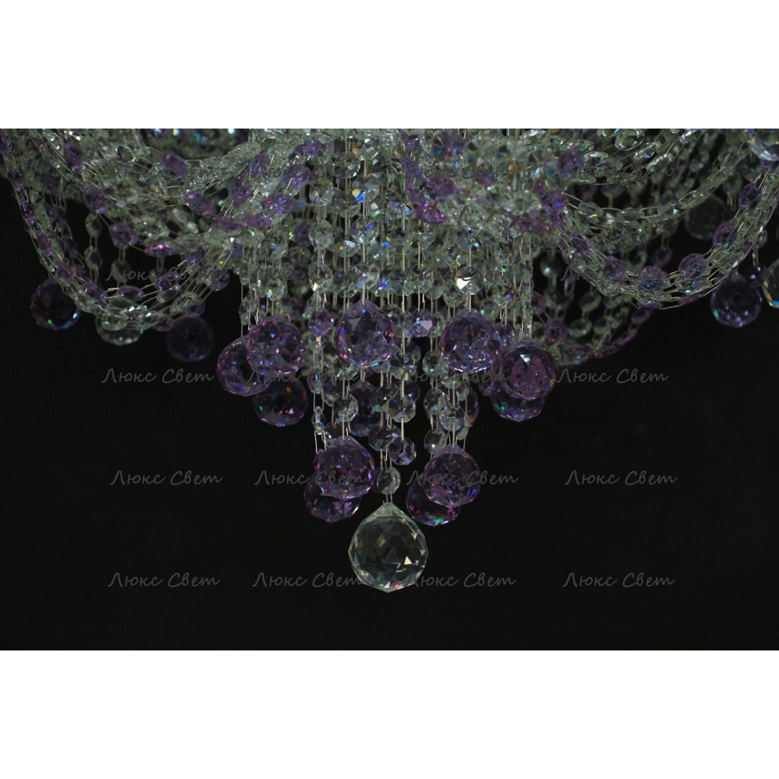 Люстра Водопад Софья фиолетовая