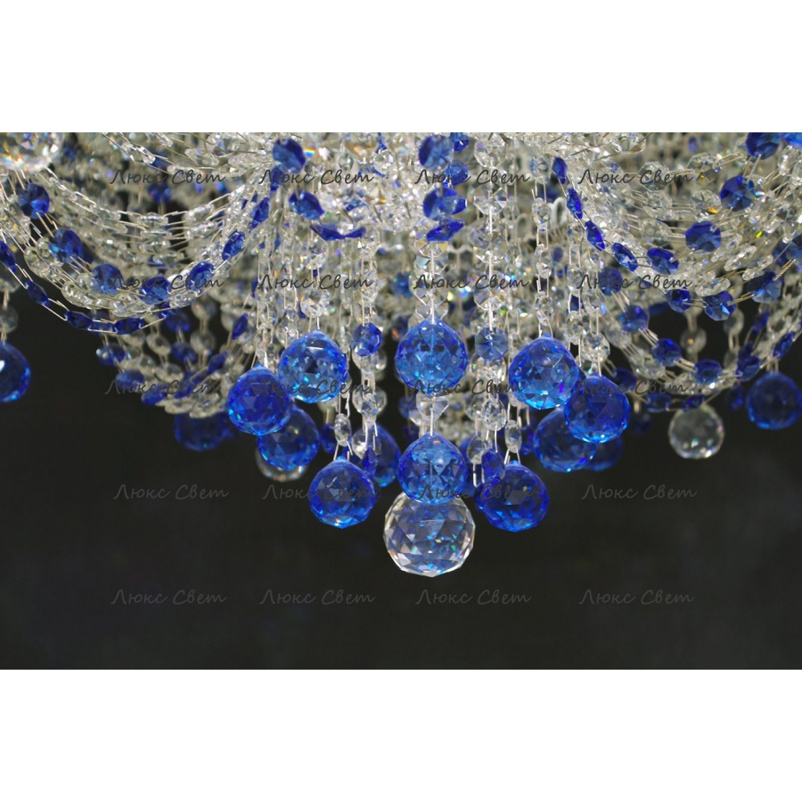 Люстра Водопад Софья синяя