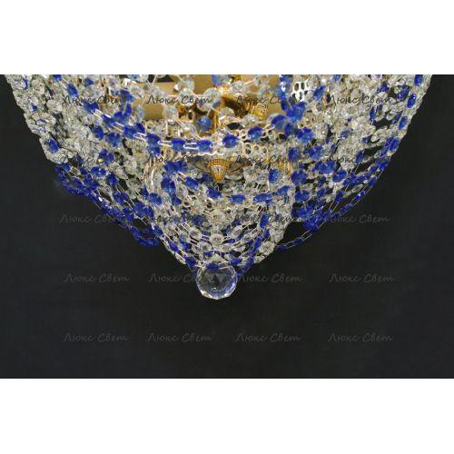 Люстра Водопад Роза синяя