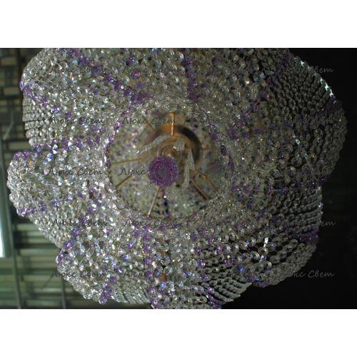 Люстра Космос № 2 фиолетовая