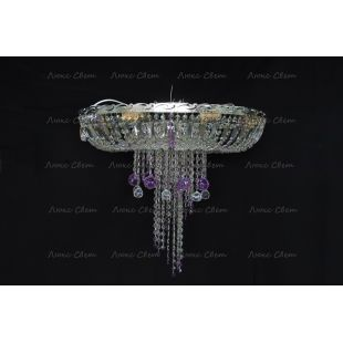 Люстра потолочная Анжелика 1 шар 40 мм фиолетовая