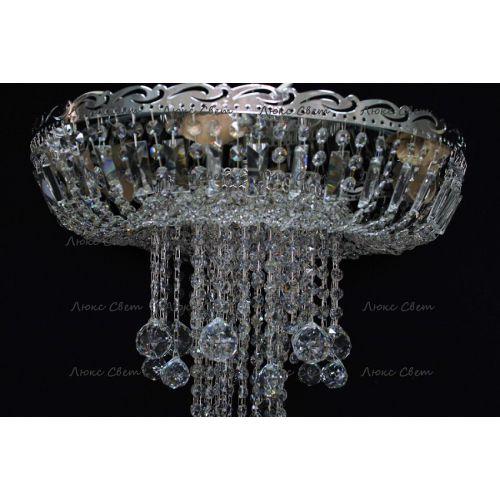 Люстра Анжелика 1 шар 40, цвет фурнитуры: серебро Гусь Хрустальный