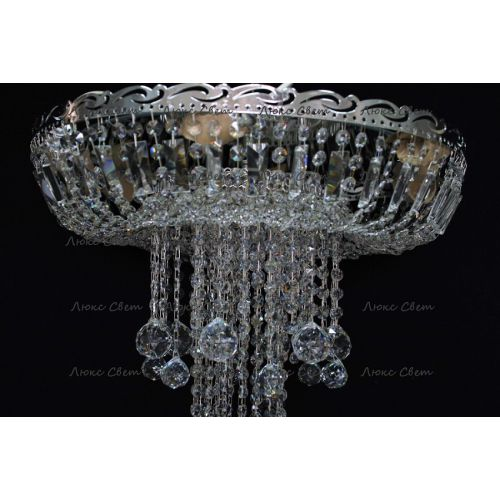 Люстра Анжелика 1 шар 40, цвет фурнитуры: серебро