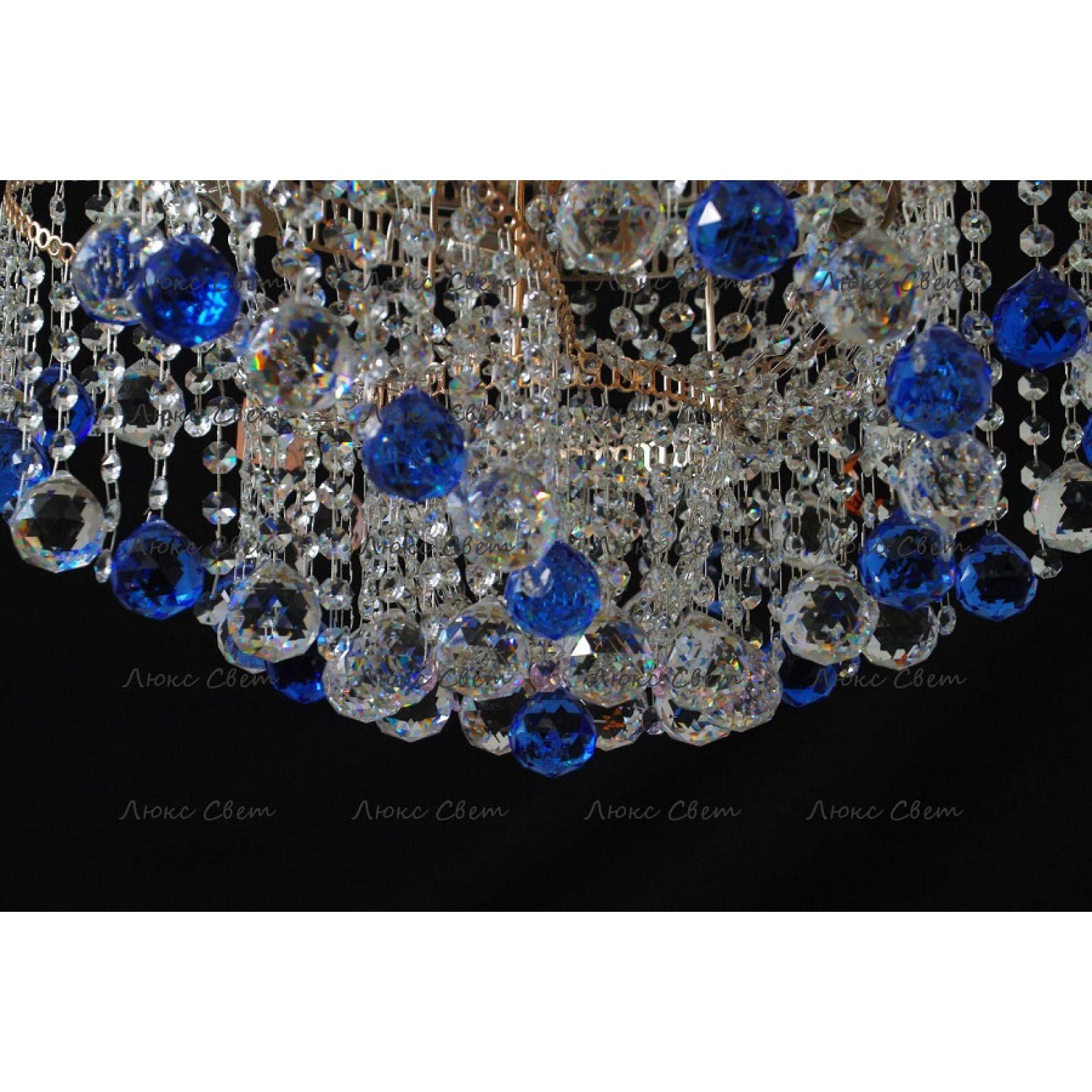 Люстра Космос шар 40 мм синяя