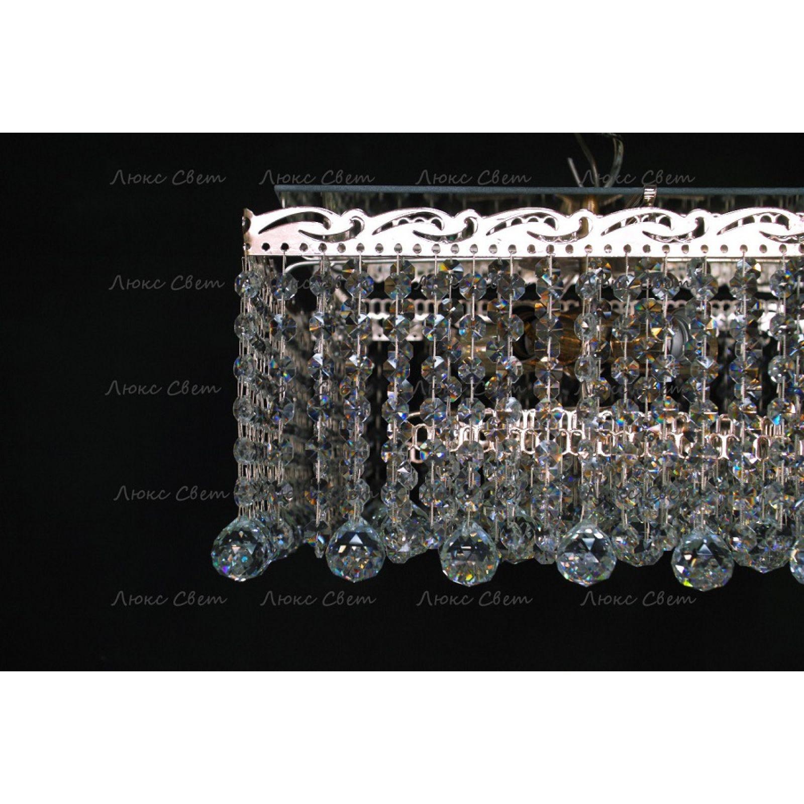 Хрустальная люстра Квадрат гамма шар 30 мм длинная