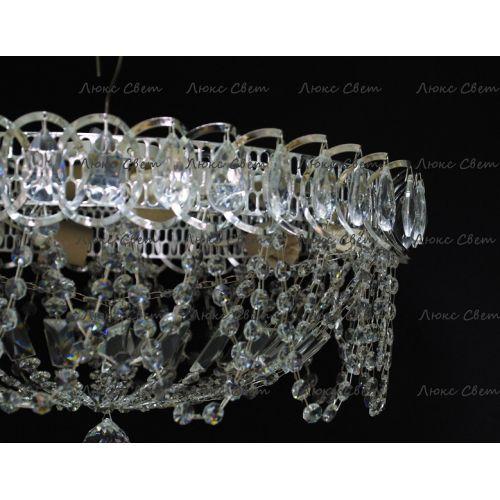 Люстра Люстра Водоворот Ажур, диаметр 450 мм, серебро, Люстры Гусь Хрустальный