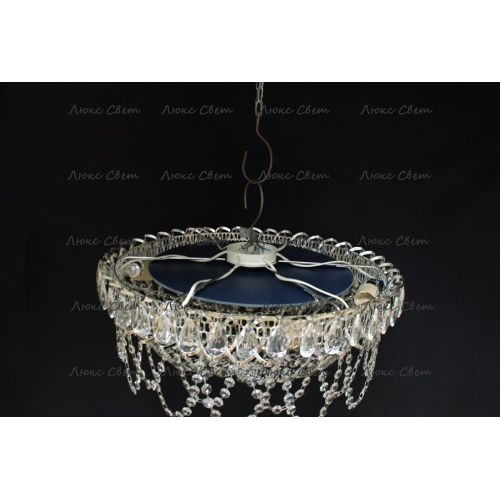 Люстра Люстра Водоворот Ажур, диаметр 450 мм, серебро