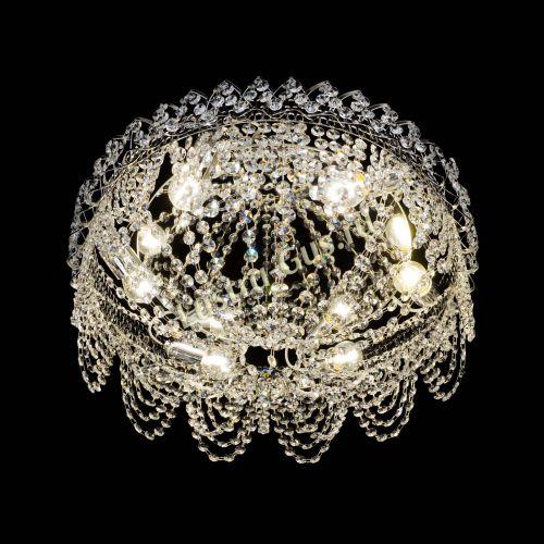 Люстра Алиса оптикон, диаметр 450 мм, цвет золото Гусь Хрустальный