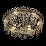 Люстра Алиса оптикон, диаметр 500 мм, цвет золото, Люстры Гусь Хрустальный