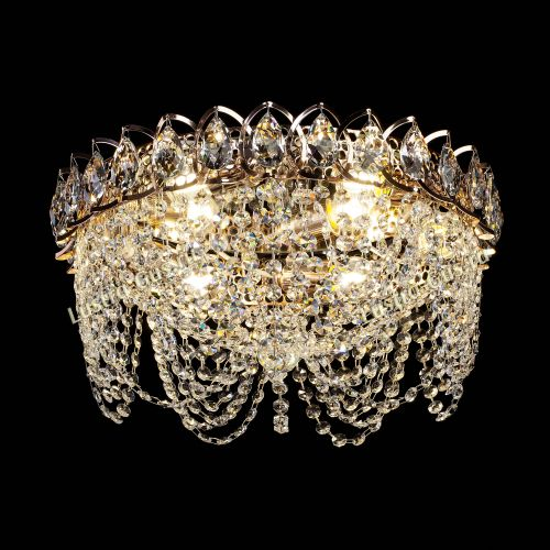 Люстра Алиса, диаметр 400 мм, цвет золото, Люстры Гусь Хрустальный