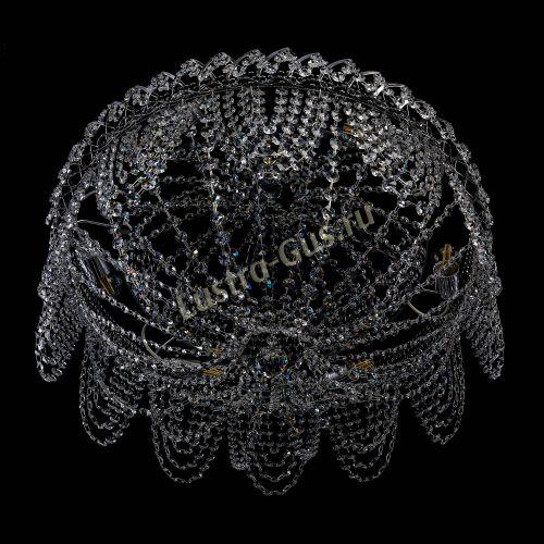Люстра Алиса, диаметр 600 мм, цвет серебро, Люстры Гусь Хрустальный