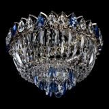 Люстра Астра Бутон №2 синяя, диаметр - 400 мм, Люстры Гусь Хрустальный