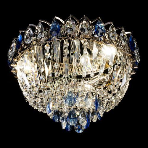 Люстра Астра Бутон №2 синяя, диаметр - 400 мм Гусь Хрустальный