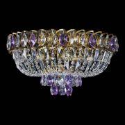 Люстра Астра Бутон №5 фиолетовая под бронзу