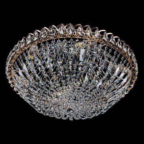 Люстра Двойной Купол 600 мм, цвет: золото Гусь Хрустальный