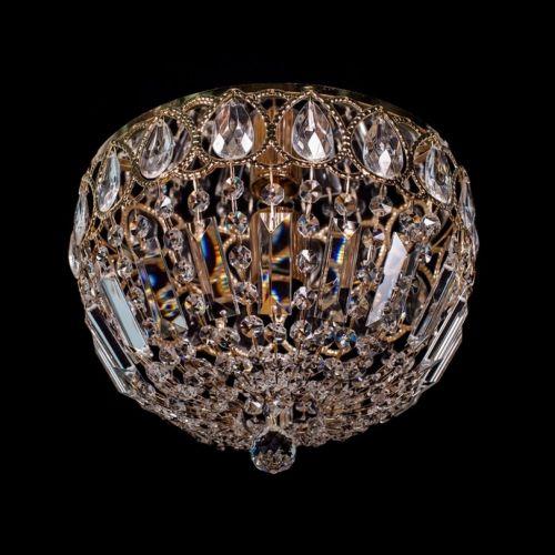 Люстра Капель №30, 1 лампа, цвет: золото, Люстры Гусь Хрустальный
