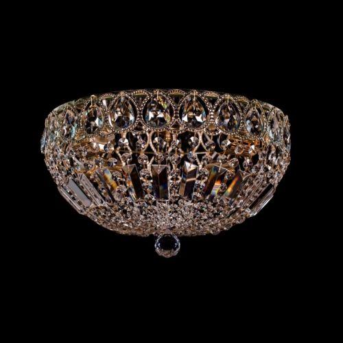 Люстра Капель №30, 4 лампы, цвет: золото Гусь Хрустальный