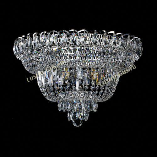 Люстра Хрустальный Каскад №1, диаметр - 450 мм, цвет - серебро, Люстры Гусь Хрустальный