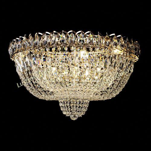 Люстра Хрустальный Каскад №2, диаметр - 600 мм, цвет - золото, Люстры Гусь Хрустальный