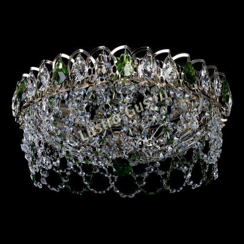 Люстра Хрустальный Каскад Ажур зеленый, диаметр - 450 мм, Люстры Гусь Хрустальный