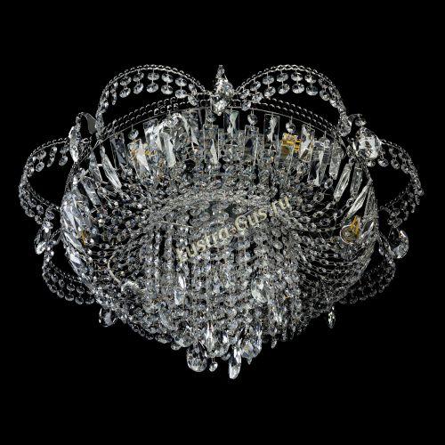Люстра Камея №1, диаметр - 600 мм, цвет - серебро Гусь Хрустальный